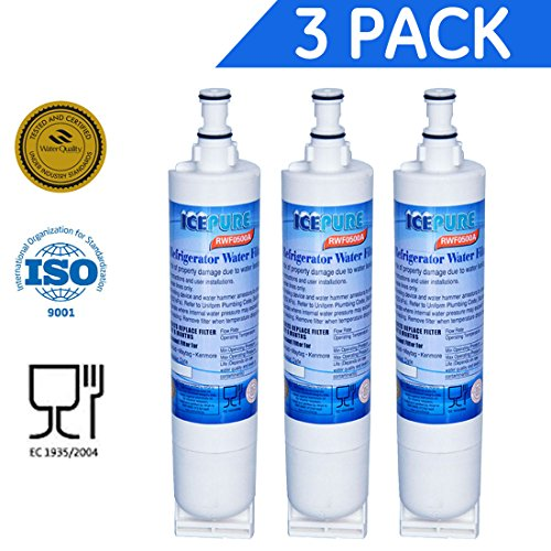 ICEPURE 4396508 Replacement Refrigerator Water Filter for Whirlpool 4396508, 4396510,4392857,Filter 5,EDR5RXD1,NL240V,WFL400,wf285,RWF0500A 3PACK