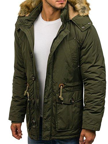BOLF Hombre Chaqueta de Invierno Capucha Extraíble J.Boyz 1020 Verde XXL [4D4]: Amazon.es: Ropa y accesorios
