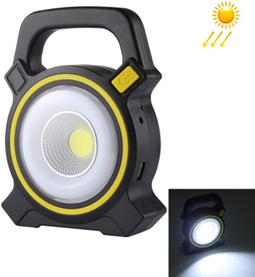 10W Solar Portable Rechargeable LED Flood Light Outdoor Garden Work Spot Lamp od