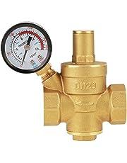 DN20 verstelbare messing waterdrukreduceerventiel met manometer drukmeter, verstelbare messing waterdrukregelaar (DN20)