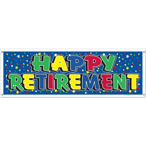 Happy Retirement Sign Banner Party Accessory (1 count) (1/Pkg)