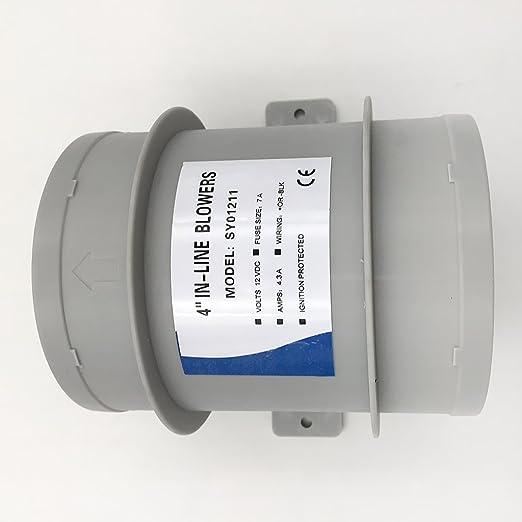 Shiwaki Marine 12V Ventilateur Silencieux R/ésistant /à leau Haut D/ébit dair 4