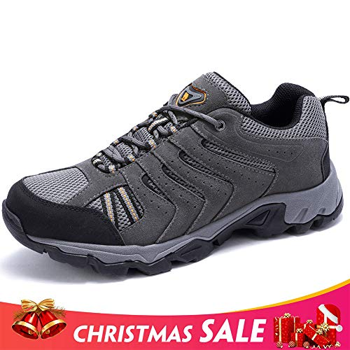 - CAMEL CROWN Mens Leather Hiking Shoes Lightweight Slip-Resistant Walking Sneakers for Outdoor Trail Trekking Climbing
