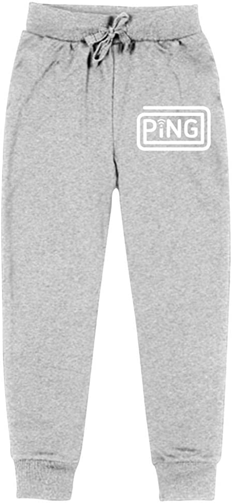 AolaZW Ping Cotton Sweatpants Unisex Kids Casual Long Sport Pants