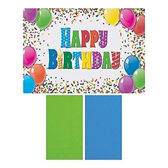 Amazon.com: Hoffmaster 856784 Feliz cumpleaños – Mantel ...