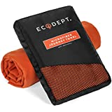 ECOdept Large Microfiber Towel for Travel and Sports ~ FREE Hand Towel ~ Fast Drying and Super Compact ~ Antibacterial to Stay Fresh ~ Beach, Camping, Gym, Swimming, Yoga ~ Gift Box