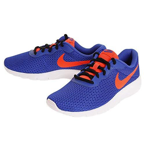 Nike Boy's Tanjun Running Shoe, Racer Blue/Total Crimson-Black-White, ()