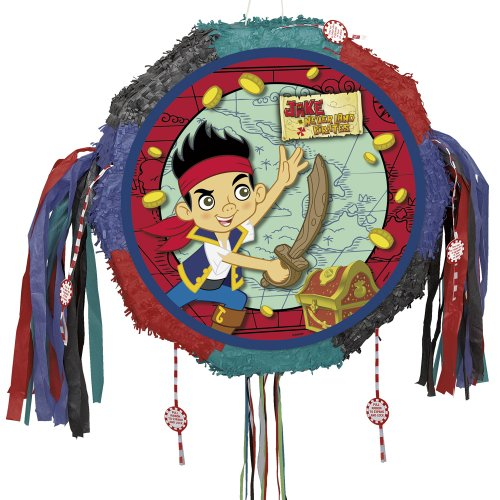[Jake and the Never Land Pirates Pinata, Pull String] (Jake And The Pirate Costumes)