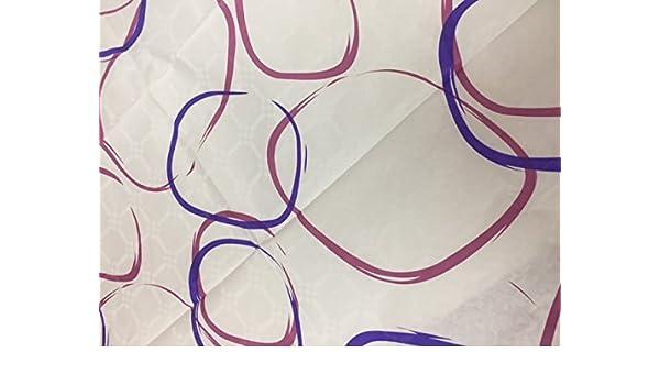 dalbgas - unidades 50 toallas de papel damasco Zara glicinas (Blanca con dibujo Nei colores lila y morado) USA y desechables F. to 100 x 100 cm).