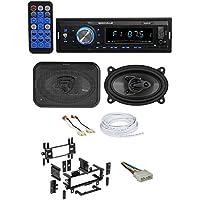 87-95 JEEP WRANGLER YJ Car Digital Media Receiver+Front 4x6 Speakers+Wire Kits
