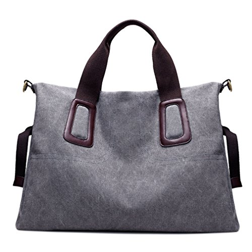 Women's Handbags Shoulder Bags Canvas Leather Travel Weekender Bag Tote Purse Crossbody Bag (Large (Oversized Large Woven Handbag Tote)