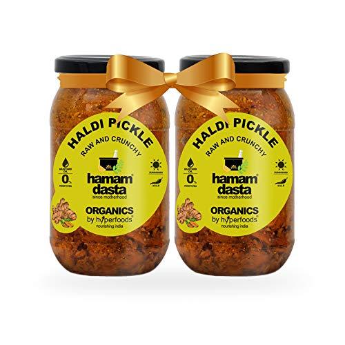 Hamamdasta Super Saver Immunity Booster Combo Raw Turmeric Pickle Haldi Ka Achaar, 200 g Glass Jars Pack of 2 (B089S8P1FN) Amazon Price History, Amazon Price Tracker