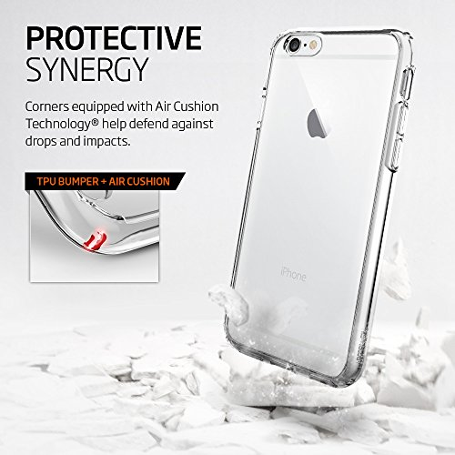 Spigen Ultra Hybrid iPhone 6S Case with Air Cushion Technology and Hybrid Drop Protection for iPhone 6S / iPhone 6 - Crystal Clear by Spigen (Image #4)