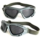 Chris's Home Tactical Airsoft Outdoor Protective Goggles No Fog Steel Mesh Glasses