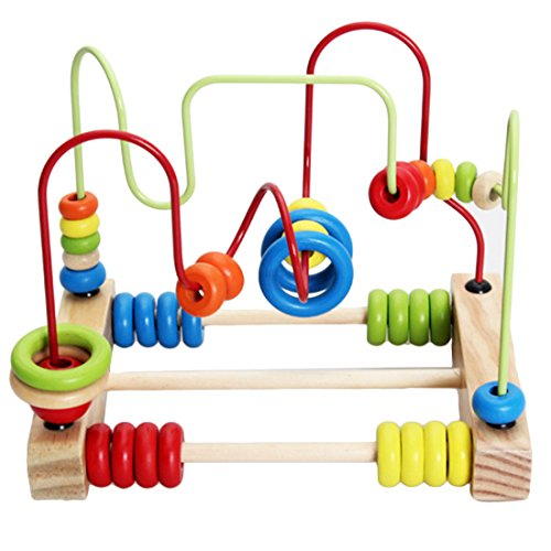 Finer Shop Counting Circles Bead Abacus Wire Maze Roller Coaster Achterbahn Wooden Educational Toy