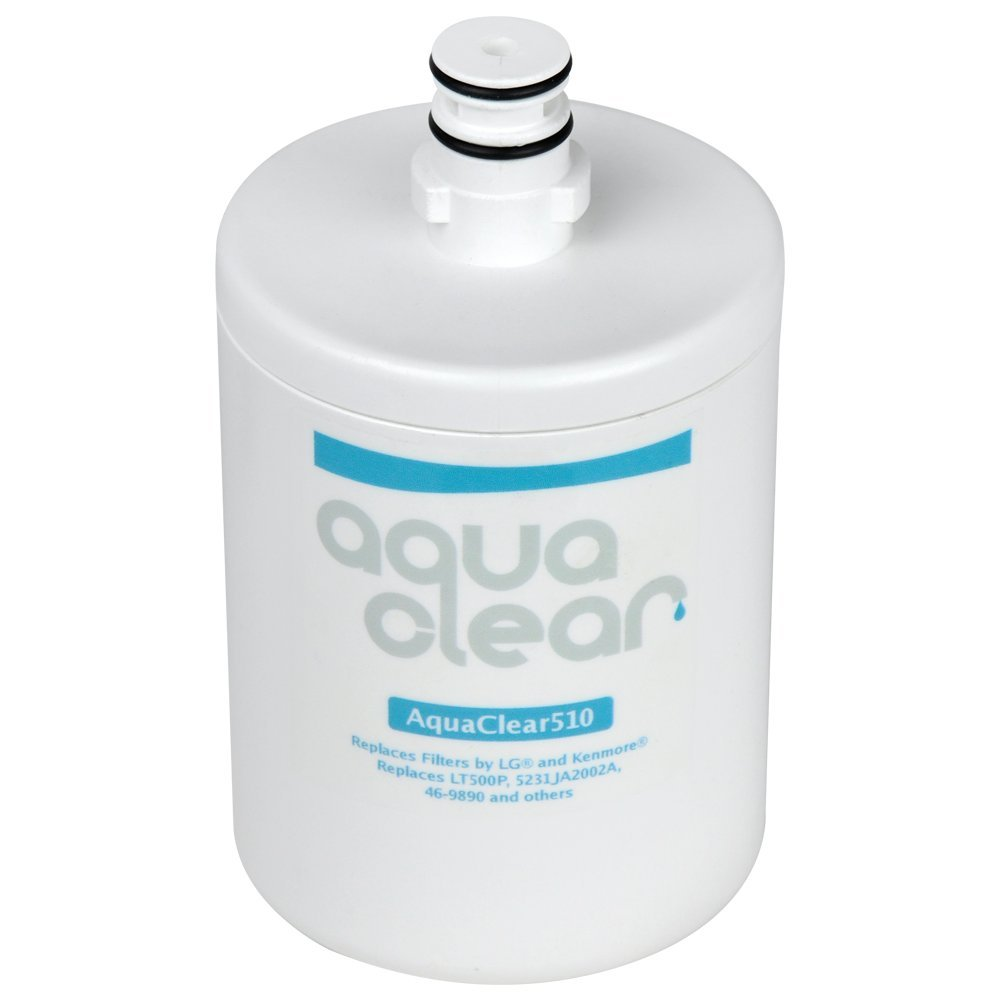 AquaClear 510 LT500P Refrigerator Water Filter LG 5231JA2002A Filter Replacement - NSF 42 Certified - Made in the USA