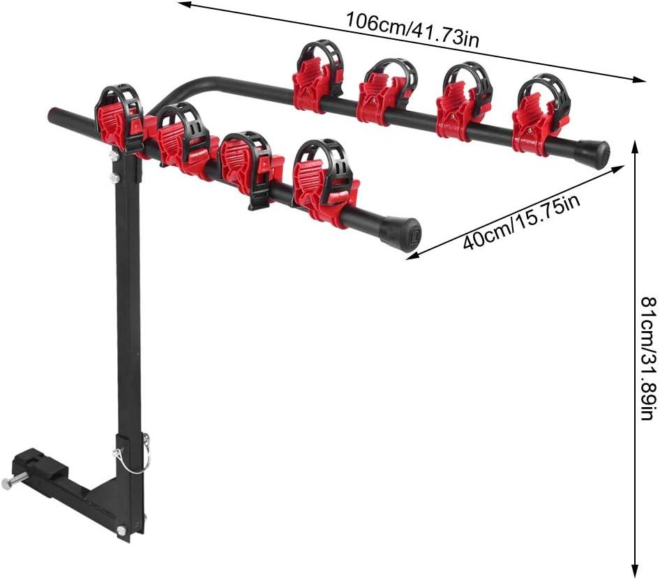 Cocoarm Car Bike Carrier Rack Rear Hitch Mount Bicycle Rack Bike Holder Towbar Luggage Rack 4 Place Bike Rack