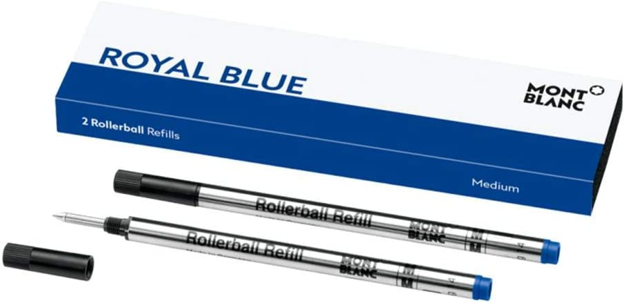 Montblanc - 2 Rollerball Refills Royal Blue M (medium)