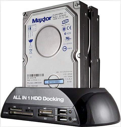 "Alician برای 2.5 ""/ 3.5"" IDE SATA HDD Docking Station Card Reader Hub US Plug"