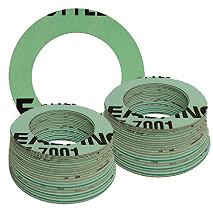 Aramid Fibers//Nitrile Rubber 1//16 Thick 1.062 ID 3//4 Pipe Size Pack of 10 Sterling Seal CFF7001.750.062.150X10 7001 Compressed Non-Asbestos Full Face Gasket Pressure Class 150#