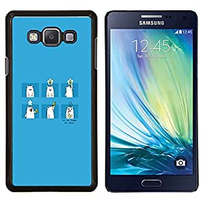 LECELL--Funda protectora / Cubierta / Piel For Samsung Galaxy A7 A7000 -- Oso de bebida --