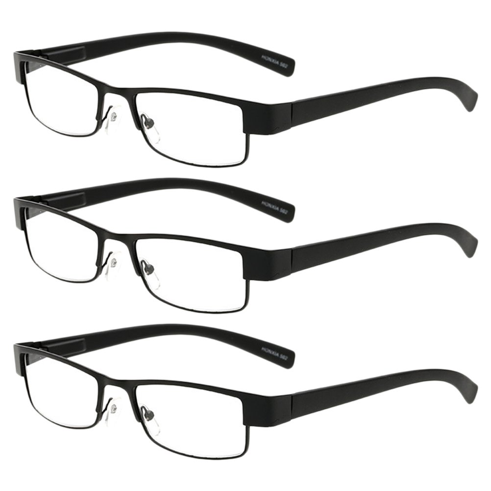 03690d50055a Amazon.com  Zhhlinyuan 3X Men Women Eyewear Reading Glasses Reader Choose  Your Magnification  Clothing