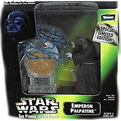 Star Wars Power of the Force Emperor Palpatine 3 3/4 Inch Action Figure with Millennium Minted Coin: Toys & Games