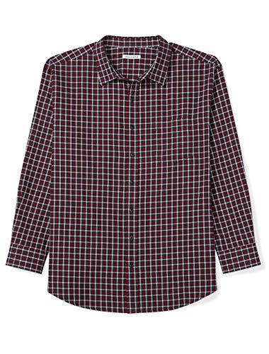 Amazon Essentials Men's Big & Tall Long-Sleeve Plaid Flannel Shirt, Red/Navy, 7X ()
