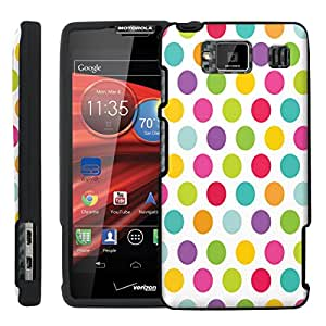 [ManiaGear] Design Graphic Image Shell Cover Hard Case (Colorful Dots) for Motorola DROID RAZR HD XT926