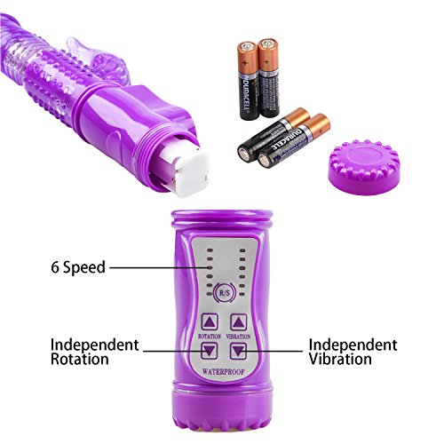 Sex Adult Toy Rabbit Vibrator -36-Frequency G-Spot Stimulation Clit Massager -Purple Waterproof Vibrator