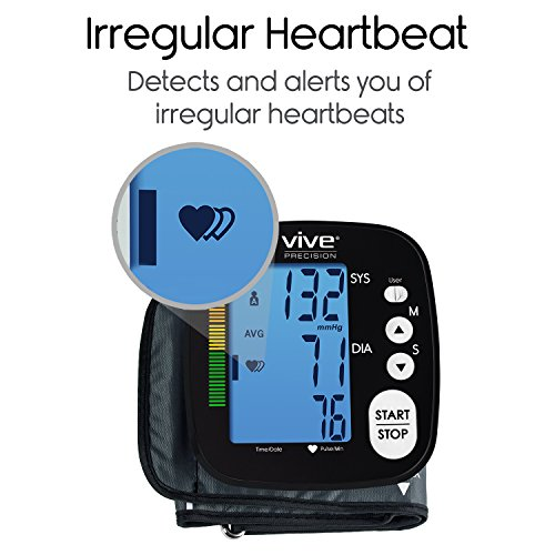 Vive Machine Heart Monitor - Automatic Sphygmomanometer Measurements For Hypertension Readings Arm