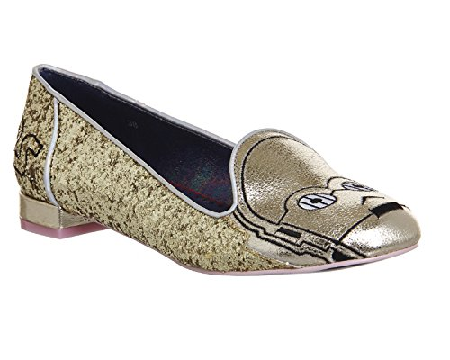 Star Wars by Irregular Choice Ballerinas THE GOLDEN DROID 4329-08A Gold