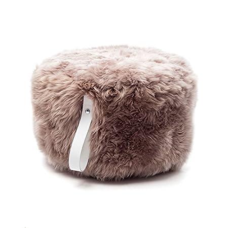 Luxury Lush Soft Floor Ottoman Bean Bag Fur Pillow Sheepskin Pouf Delectable Sheepskin Pouf Bean Bag