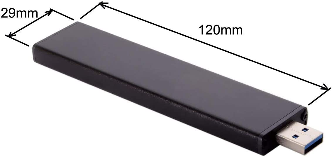 CY USB 3.0 Male to 17+7pin SSD HDD Hard Disk Cartridge Drive for 2012 Air A1465 A1466 Black