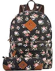 Imiflow Girls School Backpack Travel Rucksack Book Bags Casual Daypacks