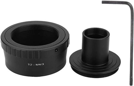 Anello Adattatore in Metallo per innesto a T da 23,2 mm Oculare per microscopio per videocamera mirrorless con Attacco M4//3 Olympus Mugast Adattatore per oculare per microscopio