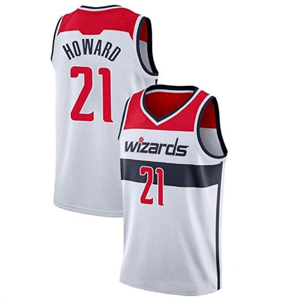 blanc M Dwight Howard   21 Basketball Masculin Jersey - NBA Washington Wizards, Basketball engrener Hommes Swinghomme Jersey Manches Sport Débardeur