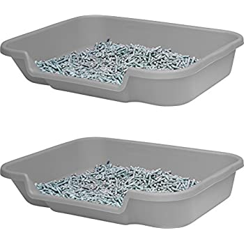 puppy litter pan box and puppy pad holder set of two large recyled grey dog
