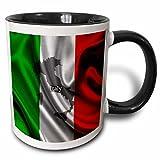 3dRose Italian Flag Design %2D Two Tone