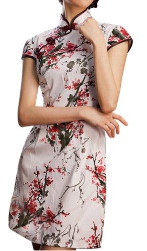 Traje Chino Cheongsam Qipao Vestidos asiaticos de coctel para boda #106