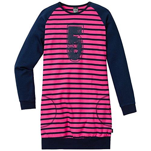 Schiesser Mädchen Nachthemd Sleepshirt 1/1, Gr. 164, Blau (nachtblau 804)