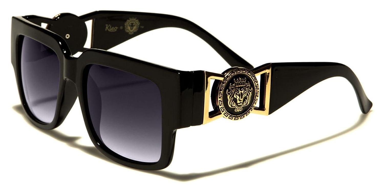 Kleo Brown Tortoise Flat Top Hip Hop Rapper Retro Aviator Sunglasses