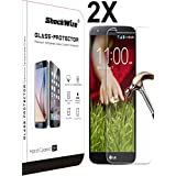 LG Stylo 2 Plus Ballistic Screen Protector ShockWize [2 Pack] [Tempered Glass] .3mm Thin Premium Real Glass Screen Protector LG Stylo 2 Plus MS550