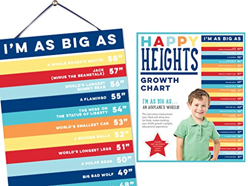 Happy Heights Growth Chart by Sticky Bellies - Girls - Boys - Now Availalble (Boy)