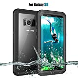 BESINPO Samsung Galaxy S8 Waterproof Case, Underwater IP68 Certificated Full-Sealed Protective with Touch ID Shockproof Snowproof Dustproof Case for Samsung Galaxy S8 Only(Black)