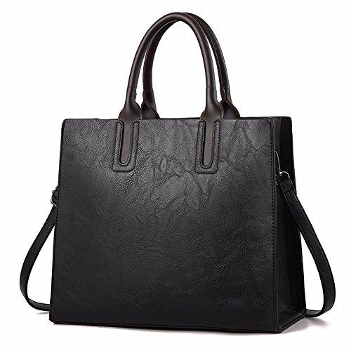 Bolso Gran Khaki Mano de GAOQIANGFENG Black colgada Hombro de Capacidad dwnYF8xqRF