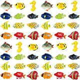 Boao 48 Pieces Tropical Fish Figure Play Set,Tropical Fish Party Favors, Assorted Plastic Fish Toys, Sea Animals Toys for Kids,1.5 Inch Long