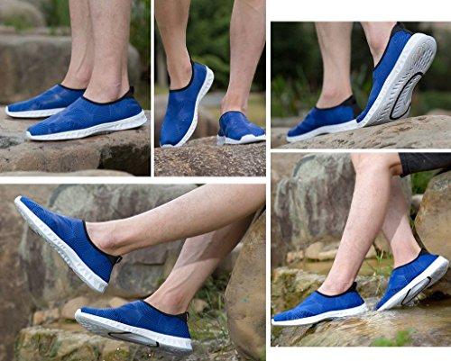 Chaussure Bleu Plage Respirant Sport Chausson D'eau Séchage Pour Bigood Élastique Rapide pd4fwqf