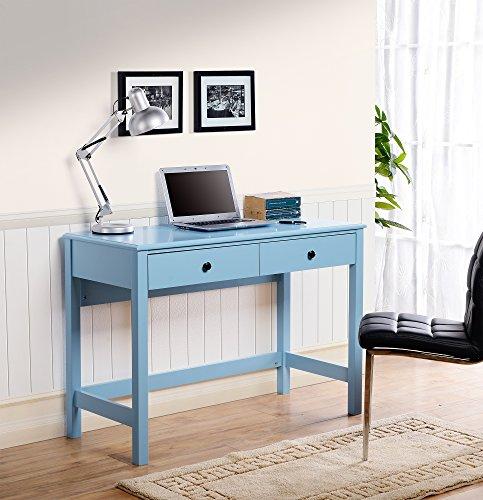 Home Star Writing Desk - HOMESTAR Othello Writing Desk with Single Drawer, Blue