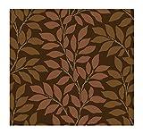 York Wallcoverings Tres Chic BL0316 Leaf Branch Stripe Wallpaper, Brown/Copper